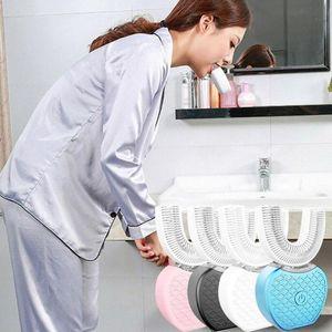 360-Grad-U Typ Elektro Teethbrush Ultraschall Automatische Zahnreiniger Zahn Cold Light Whitening Mundhygiene SchönheitMassager
