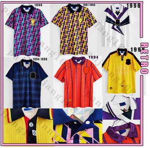 Scozia 1998 Coppa del Mondo Final Away Retro Soccer Jerseys 90 93 94 95 96 98 Away Camicia da calcio classica vintage