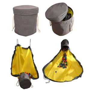 Kid Mat Lüks Oyuncak Paspas Taşınabilir Oyuncaklar Playing organizatör oyna Bebek Oyuncak Saklama Poşetleri Kilim Kutuları Organizatör Noel Hediyesi WY906 Blanket