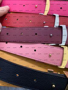 Cinturón de cuero multi-color de moda y mujer de moda, ancho 3 cm, billetera para las señoras, bolso, mochila, diadema, sombrero.