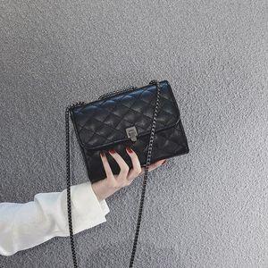 Aosbos Women Soft Pu Leather Crossbody Bags Fashion Flap Chain Shoulder Messenger Bag Vintage Casual Diamond Lattice Handbags