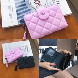 Oci Designer Wallet zipper multicolor coin purse mini wallet Polychromatic purse leather Card holder samsung wallet 5 inch classic short