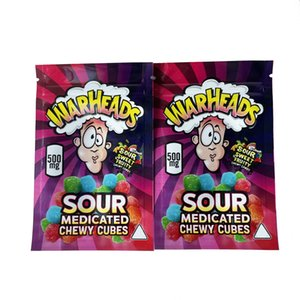 new Medicated wowheads warheads bags medicated Sour twists jelly beans chewy cubes edibles packaging bag mylar bag