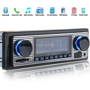 10Pcs Lot LCD Car Kit Bluetooth CD MP3 Player USB AUX Stereo USB FM Radio In Dash Receiver 55131
