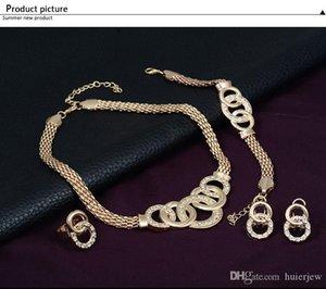 Bridesmaid комплект ювелирных изделий цепи браслет Как индийский African Dubai 18k Gold Jewelry партии комплекты ювелирных изделий
