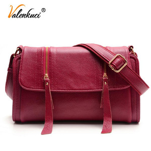 Leather Women Leather Bags For Valenkuci Crossbody Women's SD-380 Messenger Bags Handbags Designer Vintage Women Wmlsu