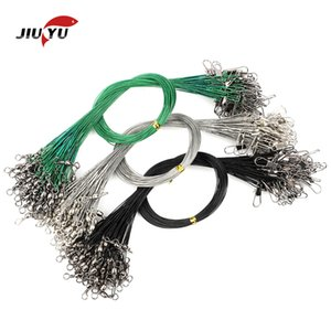 JIUYU 30Pcs Anti Bite Steel Fishing Line Wire Leader Stainless Steel 12CM - 30CM Fishing Accessory Swivel Connector Fishing Line Q1224