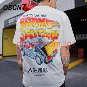 Oscn7 2020 graphiques imprimé t-shirt Men Street 2020 Corée à manches courtes T-shirts Hommes Harujuku Hip Hop Hop Casual Tee Tee Tee A18