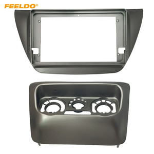 "FEELDO Car 2Din Radio Stereo Fascia Frame for Mitsubishi Lancer 9"" Big Screen CD DVD Player Face Dash Mount Trim Kit #6624"