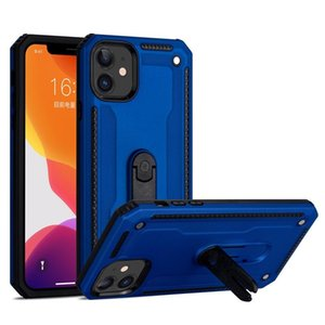 Car Holder Phone Case Cover for iphone 11 Luxury Armor Shockproof Holster Silicone Hard Case with Kickstand