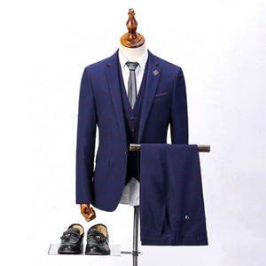 Custom Made Groom Tuxedos Light Grey Groomsmen Custom Made Side Vent Best Man Suit Wedding Men Suits Bridegroom 3 Pieces(Jacket+Vest+Pants)