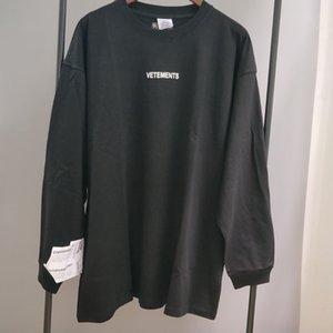 Yeni Üst Tees AH Vetements X1214 Uzun Kollu Sonbahar Kadın T-Shirt 2020Trxx Nakış Yüksek Erkekler Kalite Sticker Kış VTM Wtaxc