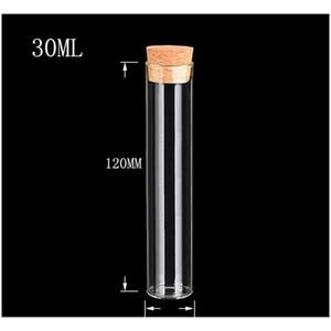 22*120mm 30ml Empty Glass Transparent Clear Bottles With Cork Stopper Glass Vials Jars Storage Bottles Test jllTCD lajiaoyard
