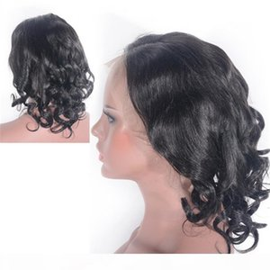 Malaysian Virgin Hair Loose Body Lace Front Wig Natural Color Human Hair Glueless Lace Wigs for Women