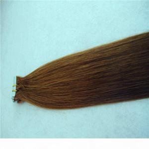Glattes Haar Extensions Skin Weft Hand gebunden Band in Remy Menschenhaar-Verlängerungen 10-36 Inchs 20pcs 40pcs 100g