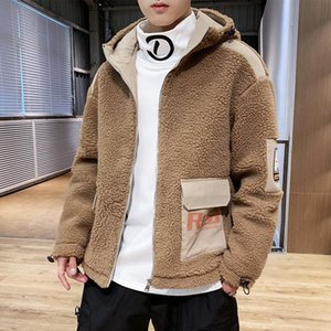 winter new cashmere cotton padded jacket for men thickened young men's warm and handsome hooded cotton padded jacket