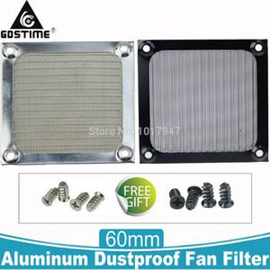 2Pieces 60mm Aluminum Dustproof Fan Filter 6CM Black Silver Metal PC Computer Mesh Dust Case Guard with Screws