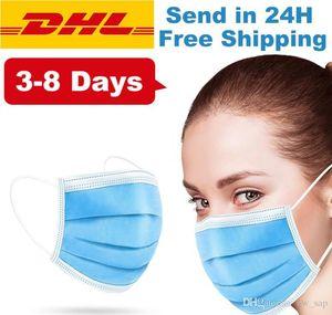 Commercio all'ingrosso di alta qualità prevenire inquinamento Proof 3 500pcs orecchini elastico comodo respirabile polvere usa e getta saliva Maschere Air Livelli Gaqp