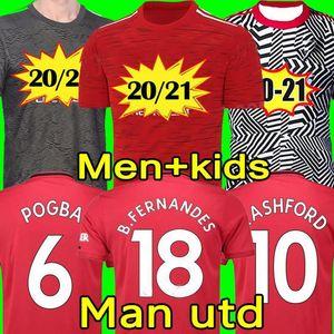 Manchester 2020 2021 RASHFORD BRUNO FERNANDES soccer jersey MARTIAL JAMES football jerseys shirts united UTD 20 21 man + kids kit equipment