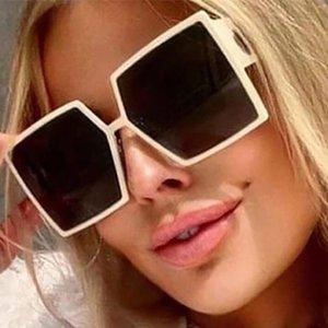 Sunglasses Rectangular Sunglasses Glasses Brand Retro Black Women MONTAIGNE Futuristic Colored Sun 2021 Square Men Women Com Wwoqk