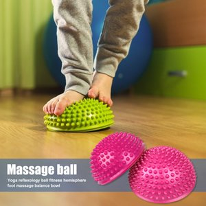 Yoga hemisphere trigger point hand foot massage ball physical therapy