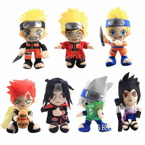 Hot Sale 20cm Anime Naruto Plush Toys Cool Gaara Hatake Kakashi Uchiha Itachi Sasuke Soft Stuffed Dolls Christmas Gifts Kids Toys