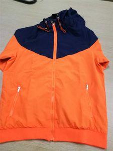 2020 Mens Jacket Sport Soccer Pattern New Coat Sweatshirt Hooded Sports Windbreaker Jackets Tops Men Clothes S-2XL 7 Colors
