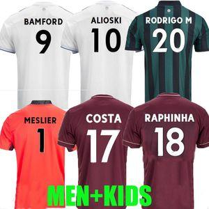 Homens + Kids 20 21 Leeds Jersey Soccer Home 2020 2021 Raphinha Roberts Rodrigo Koch Alioski Phillips Bamford Men Kit Kit Football Shirt