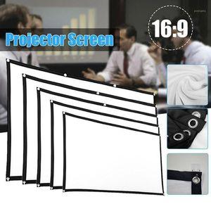 Proiettore Semplice tenda Home Outdoor KTV Office Portable 3D HD Projector Screen1