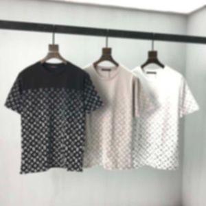 França Última Primavera Verão Paris Gradiente Letras Tee Camiseta Moda Hoodies Homens Mulheres Casuais Cotton Camisetas