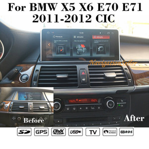 Android 9.0 Car DVD Player ل BMW X5 E70 X6 E71 نظام CIC 2011-2014 Car Stereo Navigation Multimedia IPS شاشة