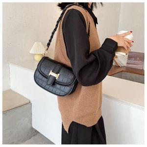Kıdemli tasarımcı yeni çanta moda pu timsah desen bayanlar tek omuz basit diyagonal çantası kadın deri çantasını Retro