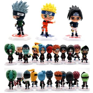 6 11pcs set Anime Naruto Action Figure Toys 7cm Zabuza Haku Kakashi Sasuke Ninja PVC Model Doll Collection Kids Home Decor Toy Y200421