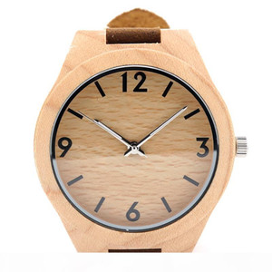 100% natural pine wooden watches japanese miyota 2035 movement wristwatches genuine leather straps unisex wood quartz watch bobo bird brand