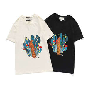 Mens T Shirt New Arrival Man Designers Clothes 2020 Cactus Leopard Print Fashion Tshirts Womens Brand Tshirts Top Quality AU 201004V