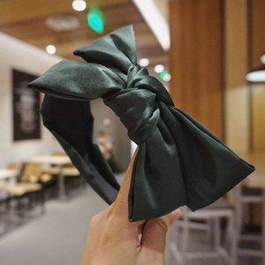 Корейская версия простого двойного слой бабочка Хооп ТворческийСтиль диапазон ткань полосатой цветок Широкого край волосы Пакетирование Женщина 20N3