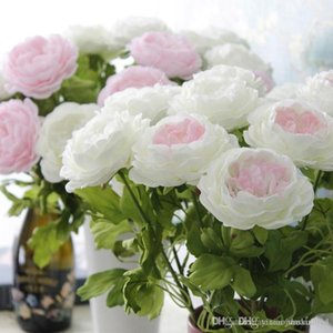 High Quality Artificial Peony Flowers Single Long Stem Bouquet Beautiful Simulation Flower Party Wedding part Decoration
