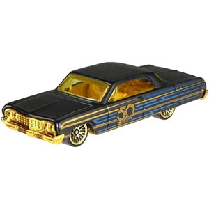 الذهب HOT WHEELS 50 الذكرى 1:64 الأسود مجموعة دييكاست نموذج أرقام سبيكة سيارة لعب الاطفال هدية
