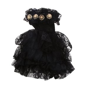 Dolls Accessories 1 4 BJD SD Dolls Dress Black Off Shoulder Party Gown Dress Birthday Gift for Girl Kid Toy Doll Clothes Collect