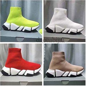 Homens Mulheres Sapatos casuais Sock VELOCIDADE Shoe 2,0 Sports malha estiramento Sneakers Speed Trainer Sock Raça Comfort Sapatos Pretos Branco Oreo H2