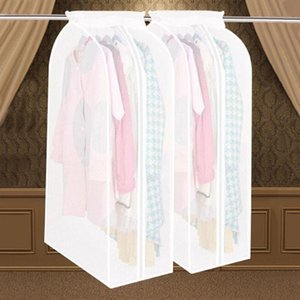 Wardrobe Clothes Storage Bag Garment Suit Coat Dustproof Cover Bag Protector Family Home Hanging Organizer