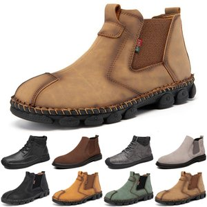 2020 mens boots luxury fashion booties grey winter ankle platform men trainers sneakers boot size 40-44 color11