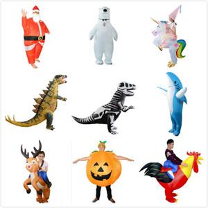 الديناصور نفخ هالوين عيد الميلاد ملابس الكبار كيد الحياة البرية فيلوسيرابتور زي نفخ مجموعة حزب تأثيري الملابس FWE2132