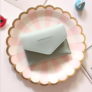 Girl Mini Coin Purse Women Ultrathin Purses Card Coin Bags Fashion Solid Colors Envelope Small Wallet Storage Design 10 Colors SEA PPC5046