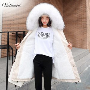 Vielleicht -30 Degrees New Arrival Women Winter Jacket Hooded Fur Collar Female Long Winter Coat Parkas With Fur Lining 201023
