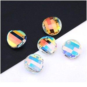 Migliore Qualità 18mm 6621 Twist Pendant Mosaico Rhinestones Perline Gens per collana orecchino Accessori gioielli fai da te 1 Qylobc