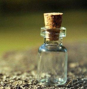 100PCS mini piccolo Chiaro vetro vuoto mini bottiglia fiala con 2ml Cork shHo #