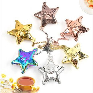 New product stainless steel star-shaped tea leaking tea ball, tea filter, hanging type