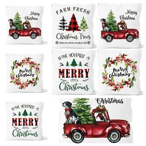 new Christmas pillow cover washable and colorless car sofa cushion cover pillow case Christmas decorations Home Textiles T2I51675
