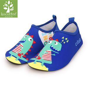 Bambini Dinosaur Pantofole ragazzi la cura della pelle calzini delle ragazze delicatamente Run Indoor Scarpe Bambini Diving Swim Scarpe spiaggia Baby Dance Palestra Scarpe Y201009